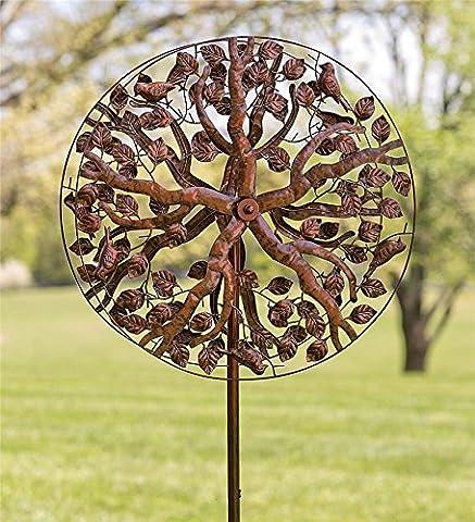 Tree of Life Metal Wind Spinner - Kinetic Metal Sculpture