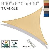 Sunny Guardia 12'x 12' x 12'toldo Triangular Bloqueo de Rayos UV para Patio al Aire última intervensión jardín