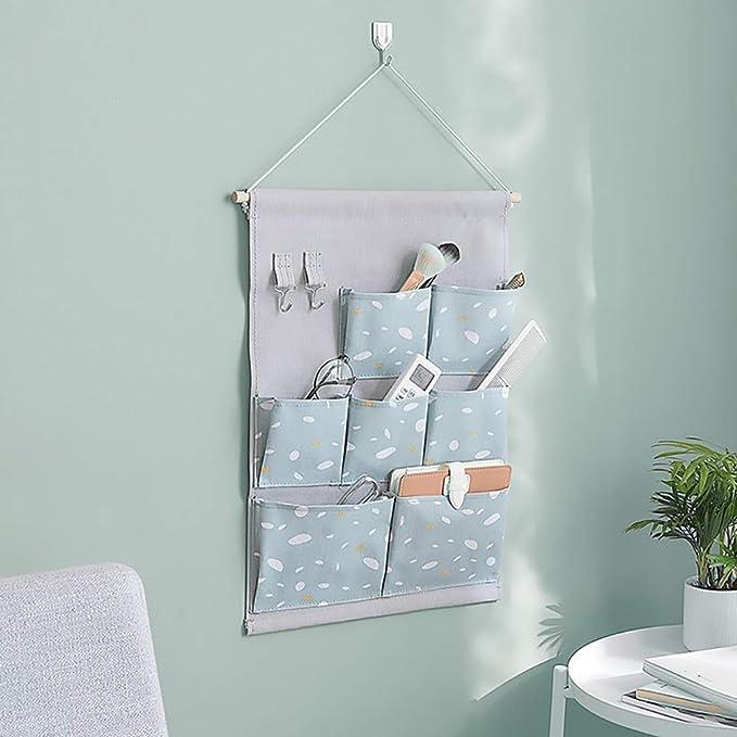 creativos a prueba de agua sobre el organizador del armario de la Equipaje Organizador del bolsillo colgante de Farbric con 3 bolsillos de tama/ño re Bolsa de Ahorro de Espacio para colgar en la pared
