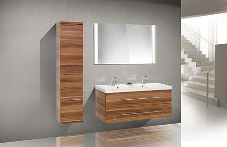 Doppi Lavabi Da Bagno : Set di mobili da bagno con lavandino doppio lavabo 120 cm: amazon.it