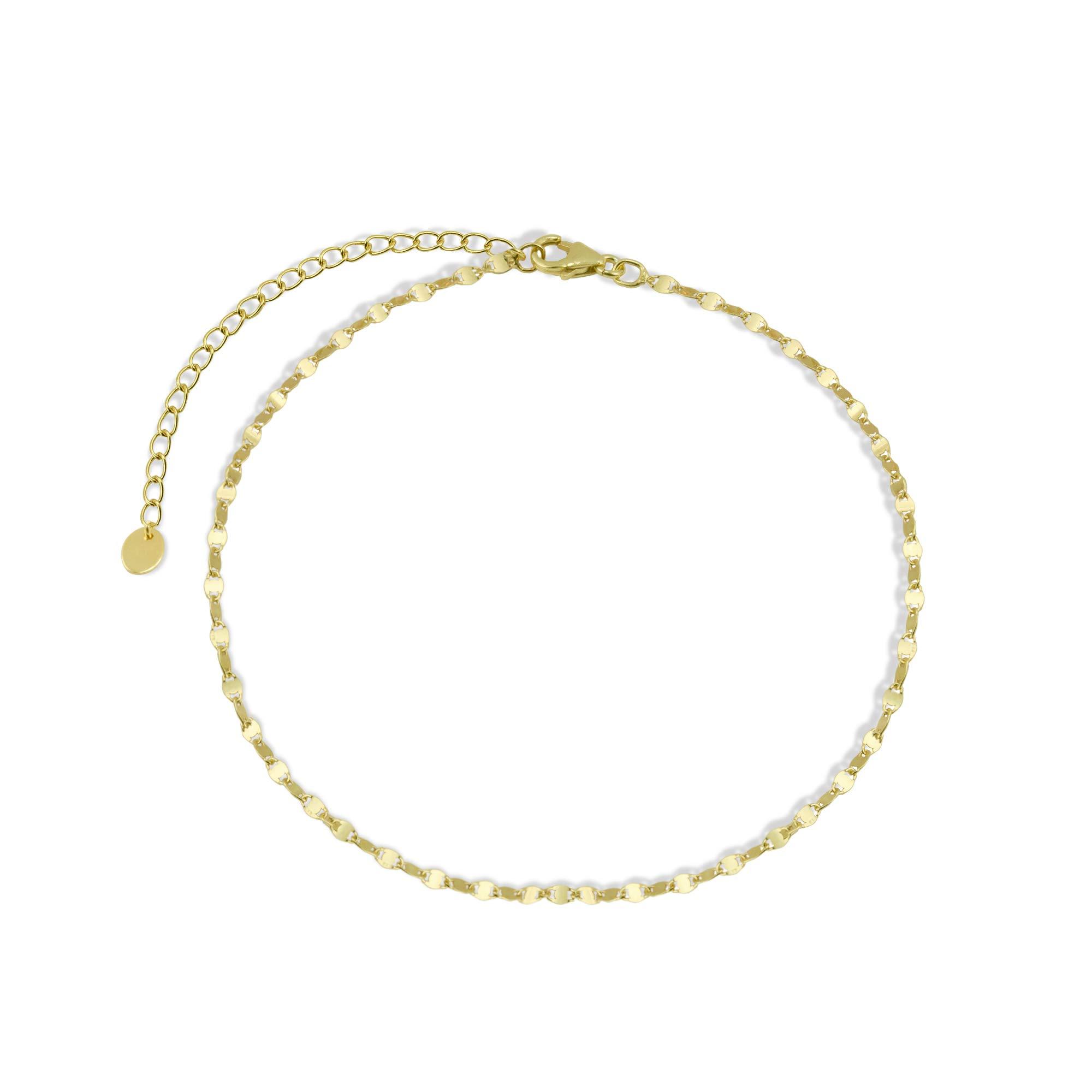 Argento Vivo Women's G Paillette Choker, Gold, One Size