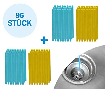 Mediashop Sani Sticks 96 Stück Abfluss Duft Zitrone Duftneutral | Drain  Cleaner Enzymreiniger Abflussreiniger | Abflussrohr rein clean Rohrreiniger  | ...