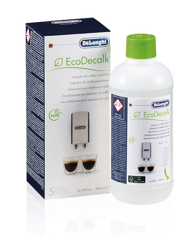 De'Longhi EcoDecalk Descaler, Eco-Friendly Universal Descaling Solution for Coffee & Espresso Machines, 16.90 oz (5 uses)