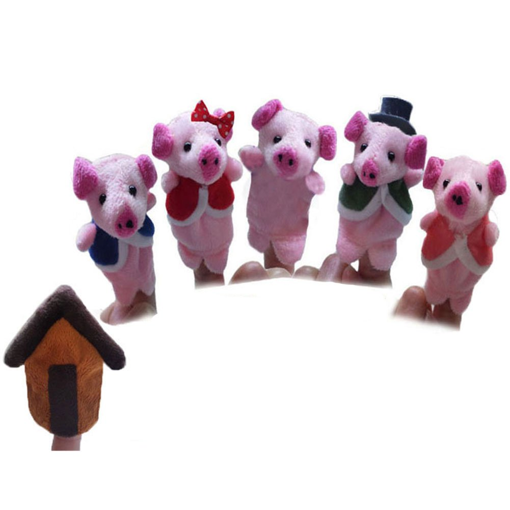 Pinkyee The Nursery Rhyme Finger Puppets for Pig Finger Family TB2015PP0148