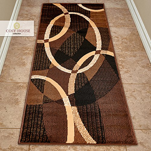 Cosy House Contemporary Runner Rugs for Indoors...