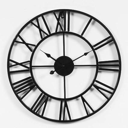 Amazon Com Lightinthebox Rustic 3d Black Wall Clock Operated