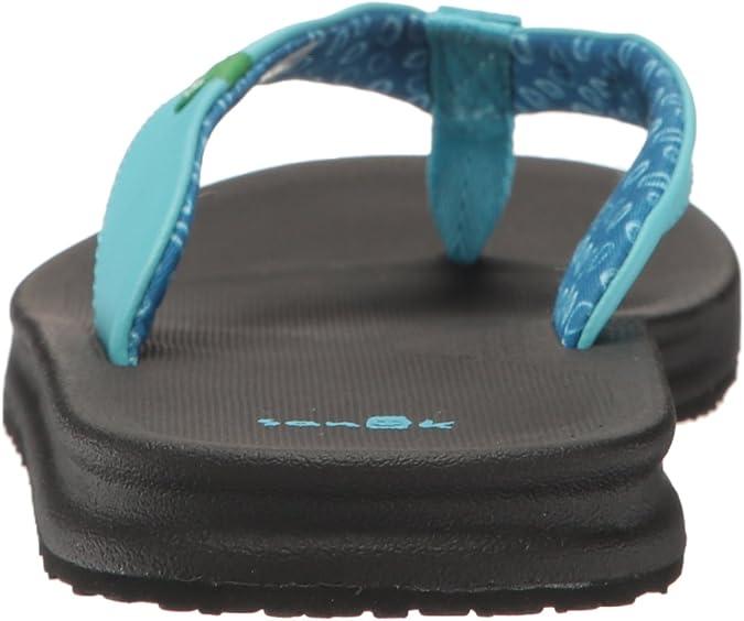 NEW w//tags Free Ship! Sz 8 Sanuk Women/'s Yoga Mat Tonal Flip Flops Black