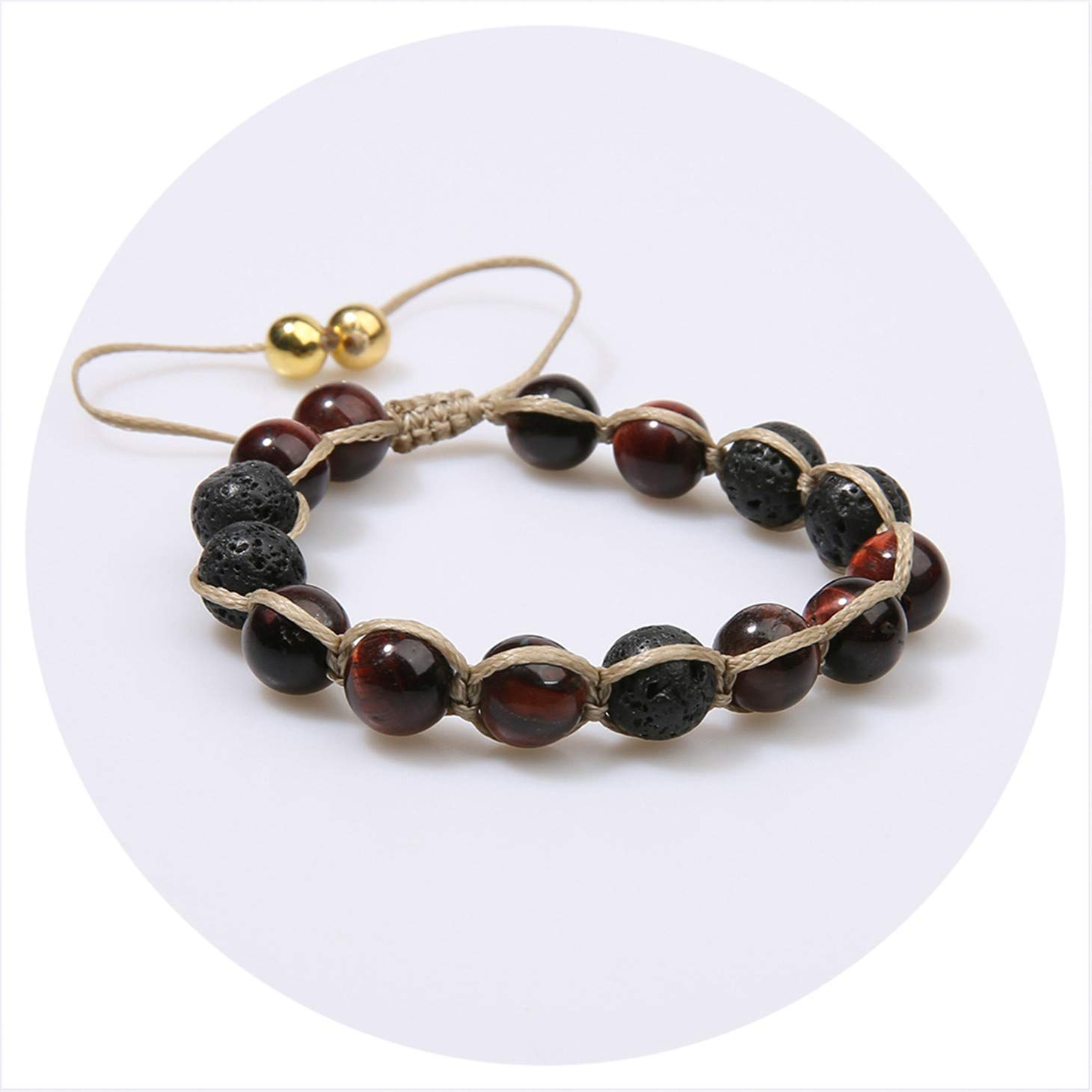 Natural Stone Beads Handmade Unique Bracelet Charm Friendship Gift Simple Design Bracelet for Men W
