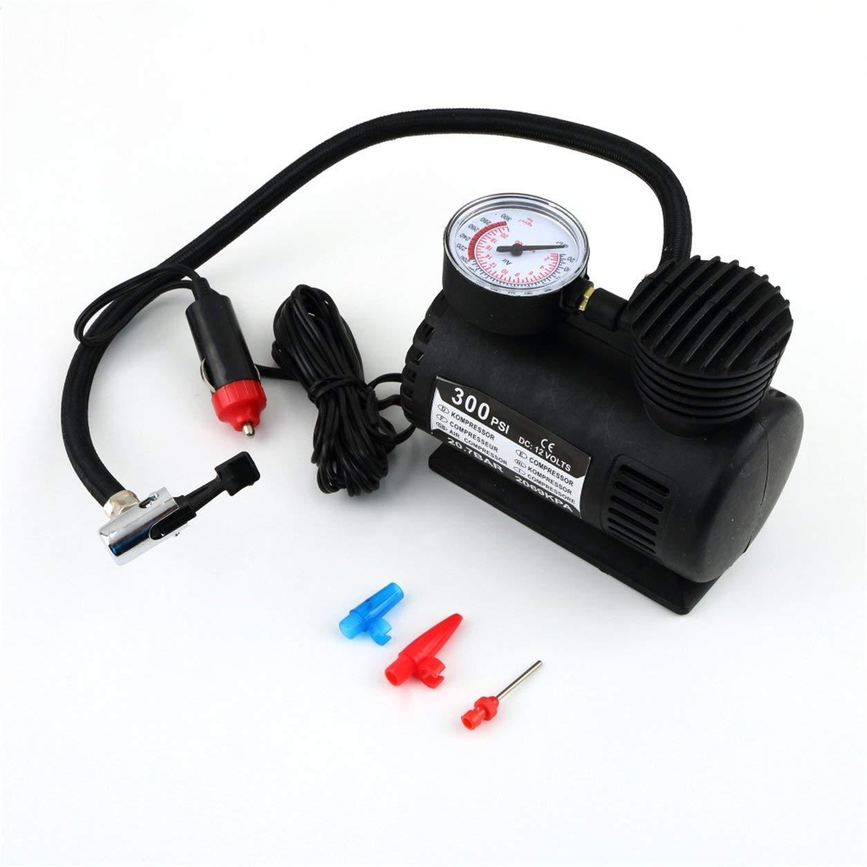 Schwarz Tragbare 12V Auto Auto elektrische Luftverdichter-Gummireifen Infaltor Pump 300 PSI Dailyinshop