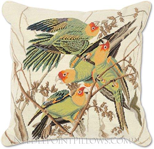 Needlepoint Pillows Birds - 5
