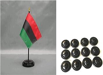 African American 5pc Mini Banner Flag Afro Black Flag