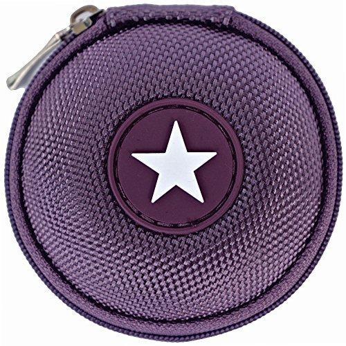 Mini-Etui - Stern, nur 7cmØ, z.B. Hülle für iPod Shuffle oder Case für Ohrhörer, bzw. Kopfhörer (iPhone, iPod, iPad, S3 etc.) oder für SD-Karte, USB-Stick