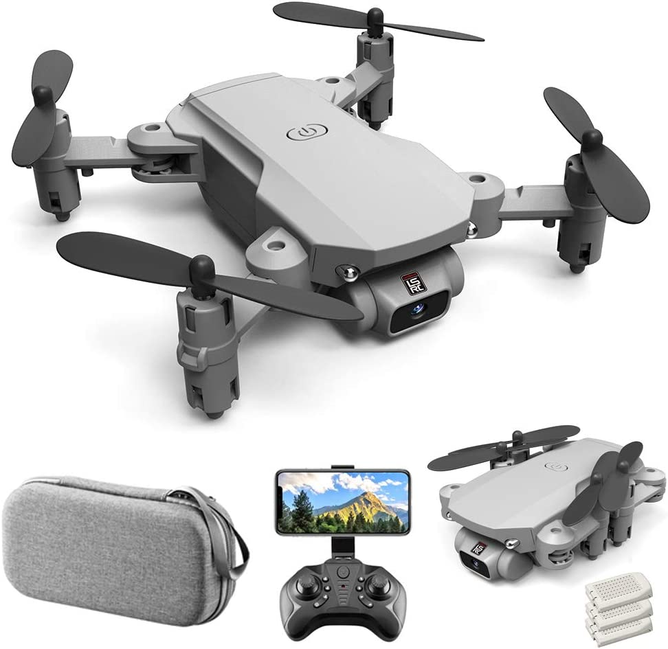 Goolsky Mini Drone RC Quadcopter with 480P Camera 13mins Flight Time 360/° Flip 6-Axis Gyro Gesture Photo Video Track Flight Altitude Hold Headless Remote Control Drone for Kids Adults LS-MIN