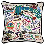 Minnesota Hand Embroidered State Pillow