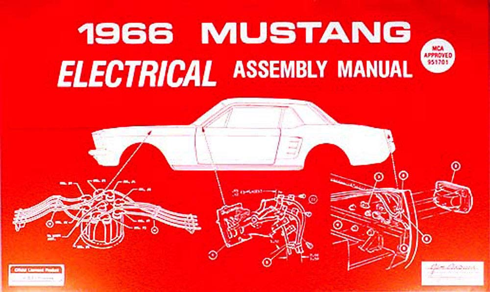 [FPWZ_2684]  COMPLETE 1966 FORD MUSTANG ELECTRICAL PARTS ASSEMBLY MANUAL - All Models -  Diagrams, Part Numbers, Color Codes etc: FORD MOTORS: Amazon.com: Books | 1966 Mustang Wiring Diagrams |  | Amazon.com