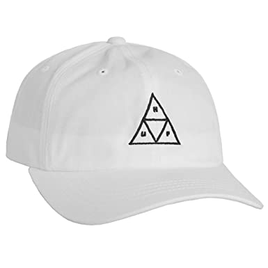 Gorra con visera curva para triángulo negro Huf, blanco: Amazon.es ...
