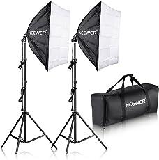 Neewer Difusor Paraguas para Fotografía de Estudio, Blanco Translucido, 24x24 inches/60x60 cm