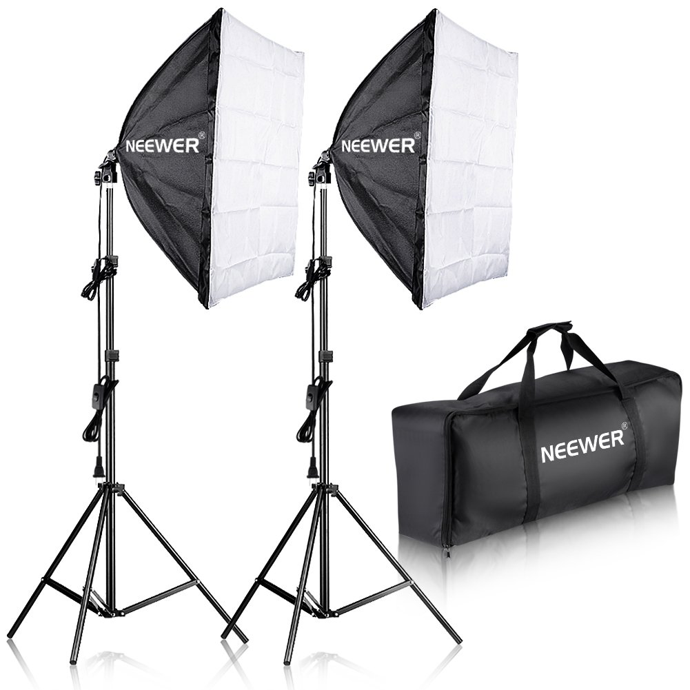Neewer 700W Professional Photography 24x24 inches/60x60 Centimeters Softbox with E27 Socket Light Lighting Kit by Neewer