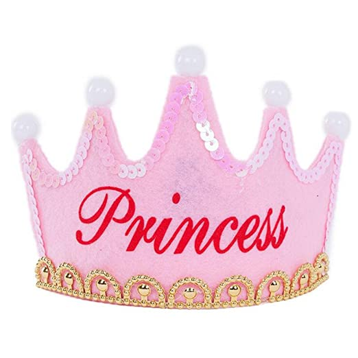OFT: príncipe y Princesa cumpleaños Fiesta Sombreros Corona Sombrero decoración para niños niños niños y niñas