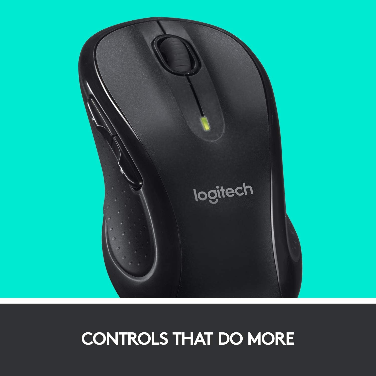 Logitech M510 Wireless Computer Mouse for PC with USB Unifying Receiver Graphite