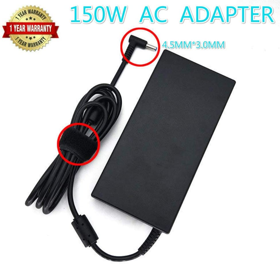 New 150W Watt 19.5V 7.7A AC Adapter Charger Compatible HP ZBook 15 G3 G4,HP ZBook Studio G3 G4,HP ZBook 15u G3 G4,HP OMEN 15, OMEN x by HP Laptop ADP-150XB B Power Supply Connector 4.5mm x 3.0mm