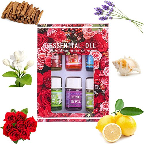 - YunZyun Aromatherapy Essential Oil -100% Pure Natural Aromatic Plant Essential Aromatherapy Oils for Skin Care Bath Massage Beauty Oils Gift Set-6 Pack,3ML (A)