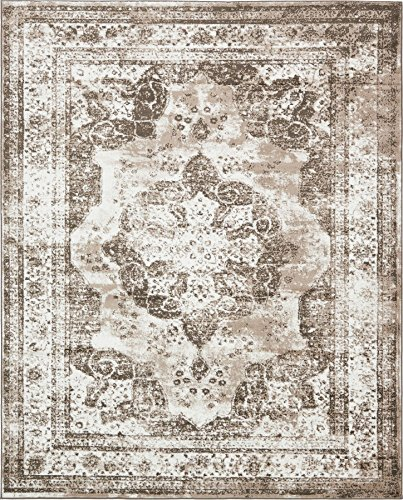 Traditional Persian Vintage Design Rug Light Brown Rug 8' x 10' FT (305cm x 244cm) Sofia Area Rug Inspired Overdyed Distressed Fancy (Area Cream Rug And Brown)