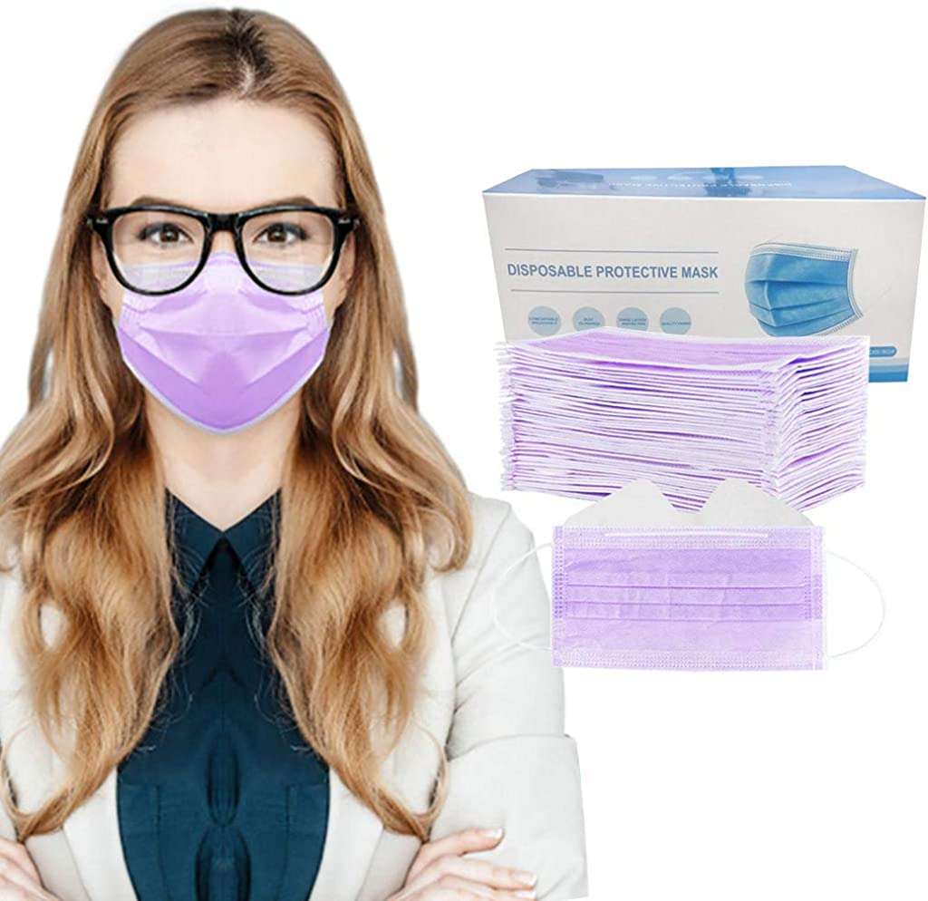 JSPOYOU 50PC Anti-fog Disposable Face 3-Ply Disposable Face at  Women's Clothing store