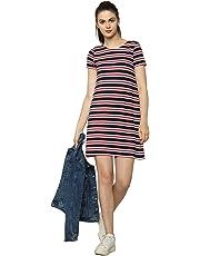 ONLY Damen Onlbera Back Lace Up S/S Dress JRS Noos Kleid