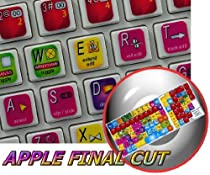 APPLE FINAL CUT KEYBOARD STICKER (VIDEO EDITING) FOR DESKTOP, LAPTOP AND NOTEBOOK