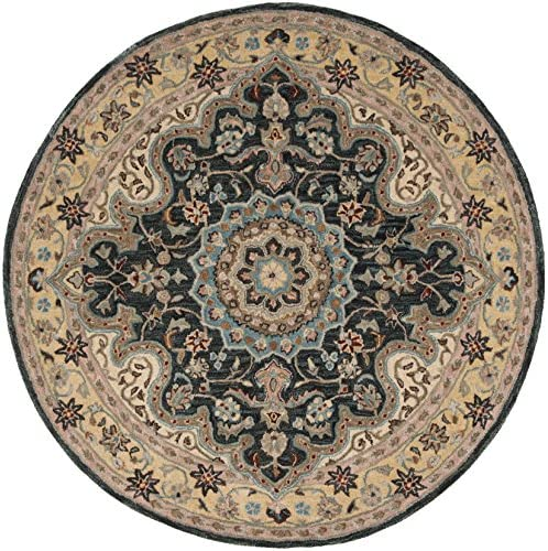 Safavieh Heritage Collection Premium Wool Round Area Rug