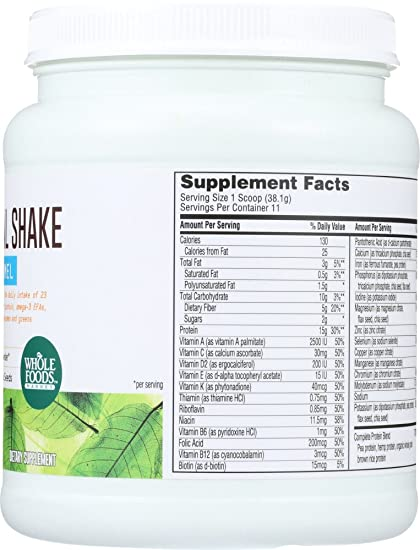 Amazon.com : Whole Foods Market, Plant-Based Nutritional Shake - Vanilla Caramel, 14.8 oz : Grocery & Gourmet Food