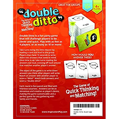 Inspiration Play Double Ditto Family Party Board Game: Toys & Games