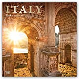 Italy 2018 12 x 12 Inch Monthly Square Wall Calendar with Foil Stamped Cover, Scenic Travel Eurpoe Italian Venice Rome (Multilingual Edition)