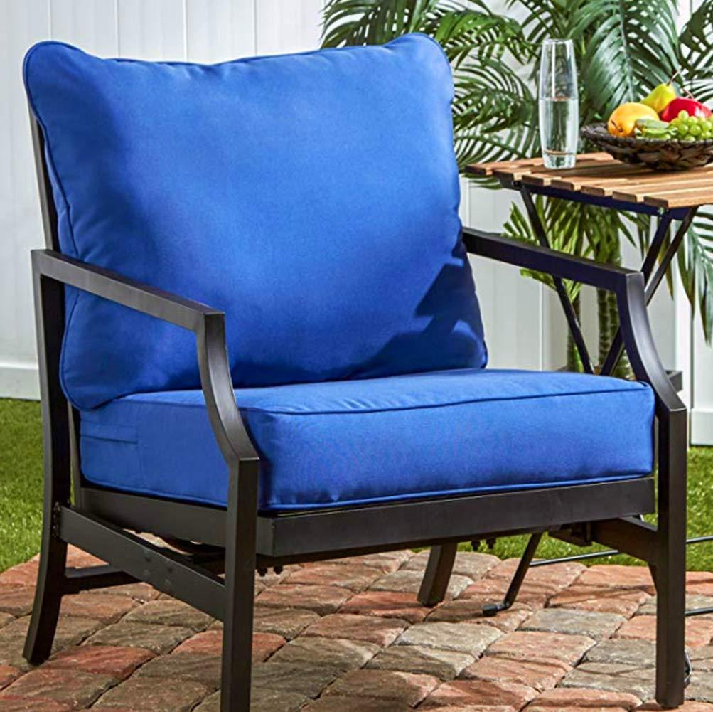 GHF Tuft クッションシート プレミアム品質 マリンカラー 安定したボトム ほとんどの椅子に最適 柔らかく快適な表面 シートとバッククッション ポリエステル素材 電子書籍ホームデコレーション  B07HCF1HLF