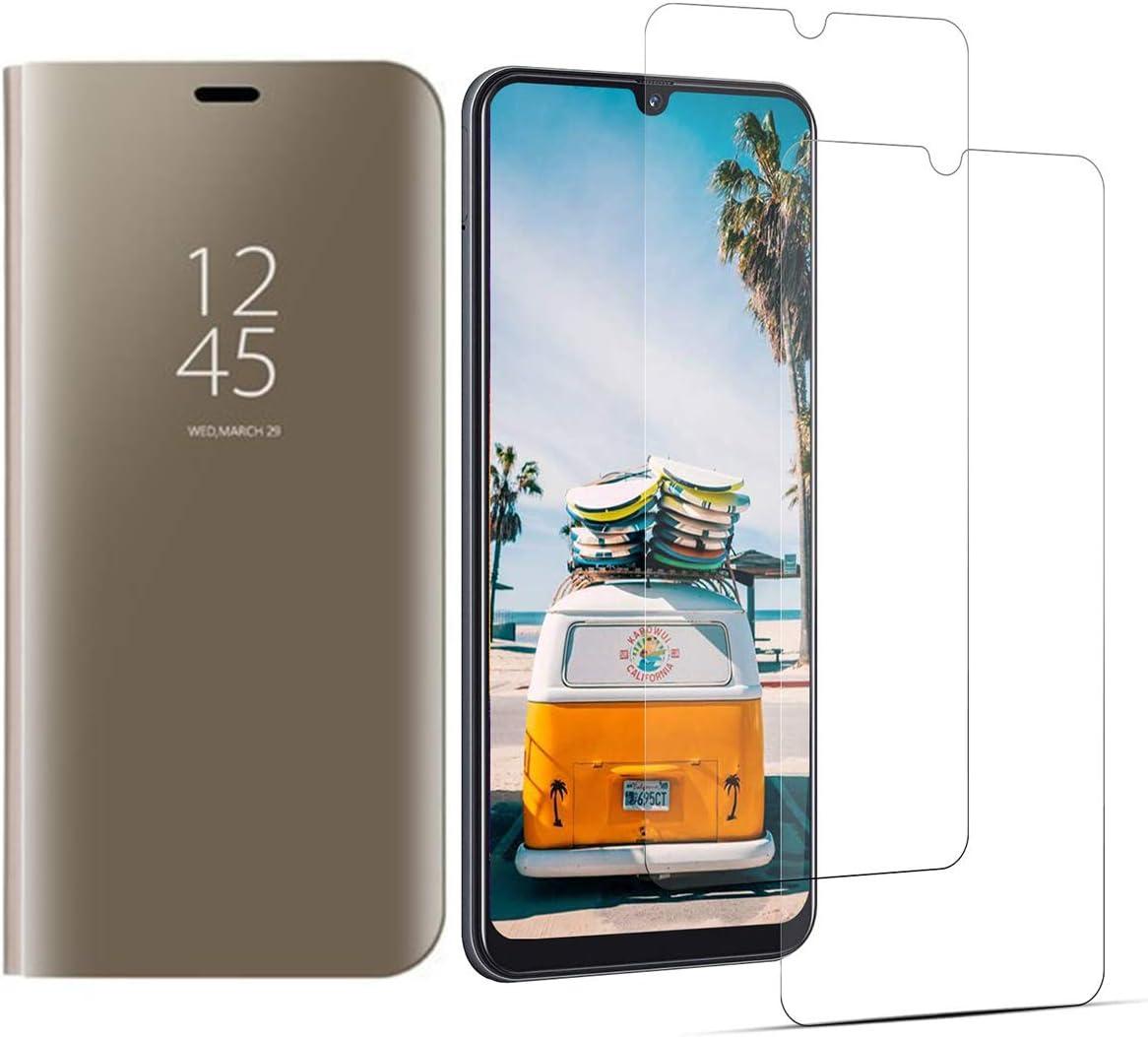 VGANA Funda y Protector de Pantalla Samsung Galaxy A90 5G, Espejo ...