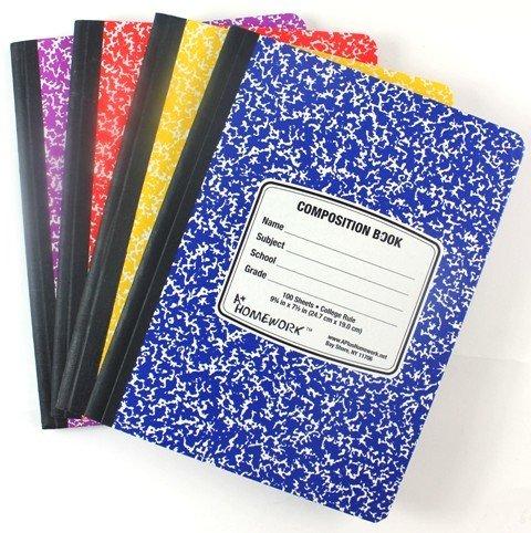 Comp Book-Asst.Colored-100 CR 24 pcs sku# 1864633MA