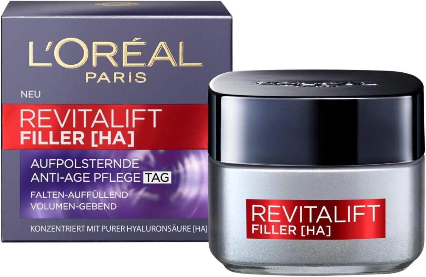 LOréal Paris Revitalift Filler Guarderías, 1er Pack (1 x 50 ml ...