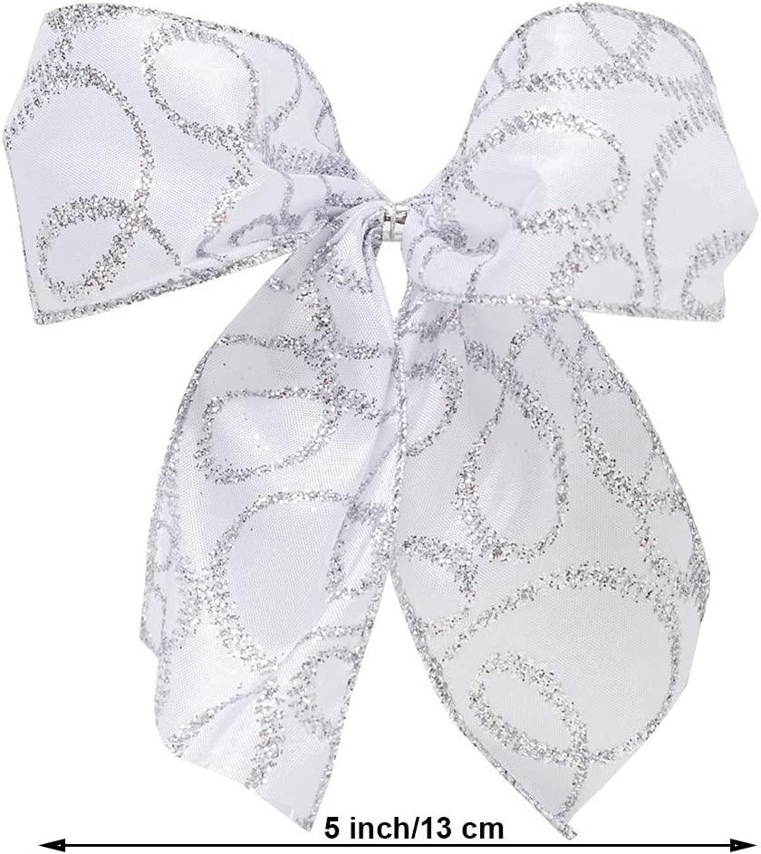 Tree Topper and Mini Bow Bundle New Traditions Blue//Silver Diamond