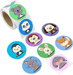 Animal Stickers Roll for Kids   9 Designs   200 pcs. in...