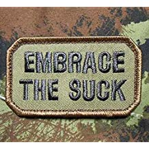 Embrace The Suck Tactical Usa Army Morale Us Military Badge Forest Velcro Patch