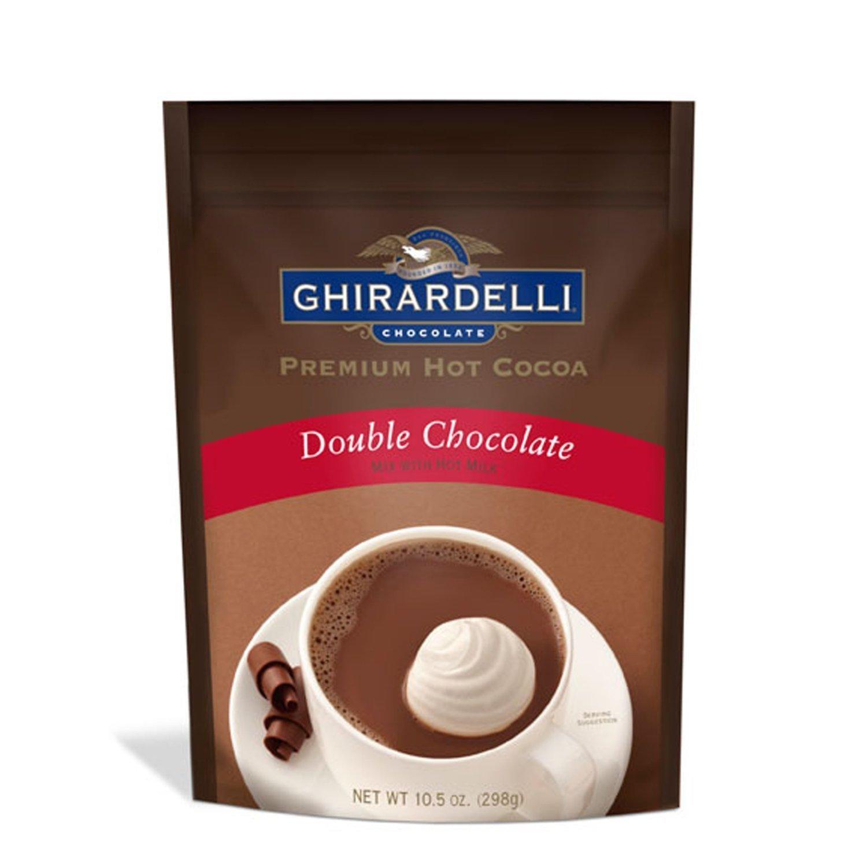 Amazon.com : Ghirardelli, Hot Cocoa Mix, Double Chocolate, 10.5oz ...
