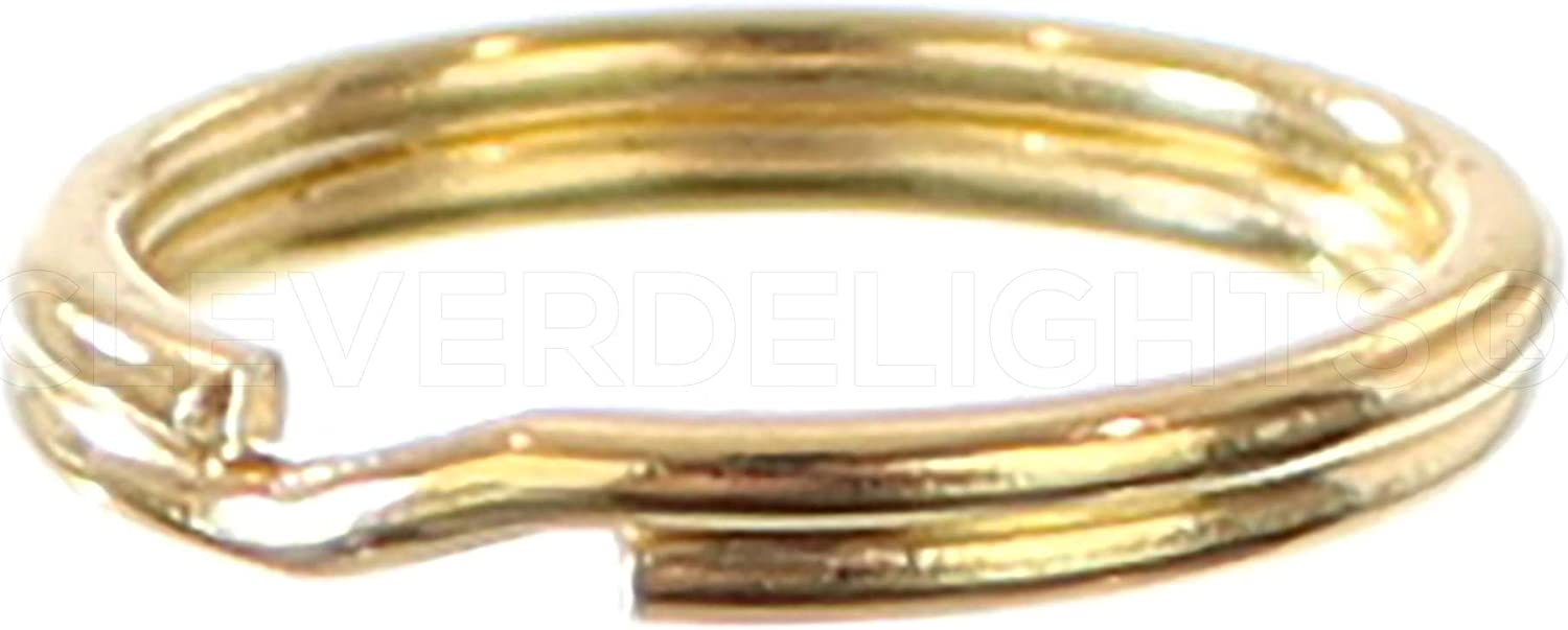 100 Gold Plated Steel 15mm Round Split Rings Key Chain Rings