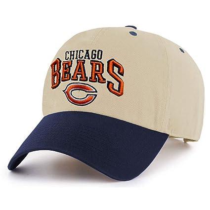 41edecde ThirtyFive55 Chicago Bears Adjustable Khaki/Navy Hat by Reebok
