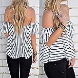 Hylong Summer Womens Ladies Casual Off The Shoulder Tops Tank Lesiure T-Shirt Blouse