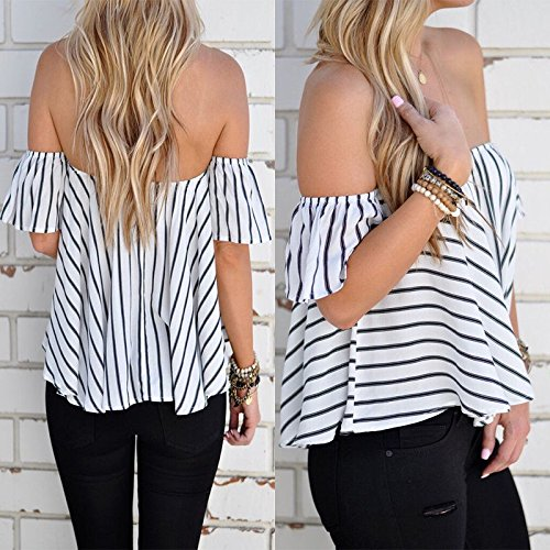 Hylong Summer Womens Ladies Casual Off The Shoulder Tops Tank Lesiure T-Shirt Blouse by Hylong (Image #6)