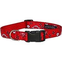 "Sassy Dog Wear Red Bandana Dog Collar, Rojo, 2 Small 10-14"" (5/8"" Width)"