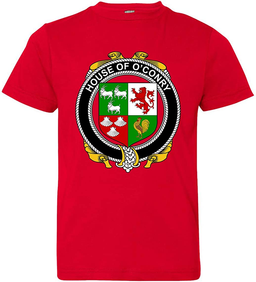 X-Small Red Tenacitee Boys Youth Irish House Heraldry OConry T-Shirt