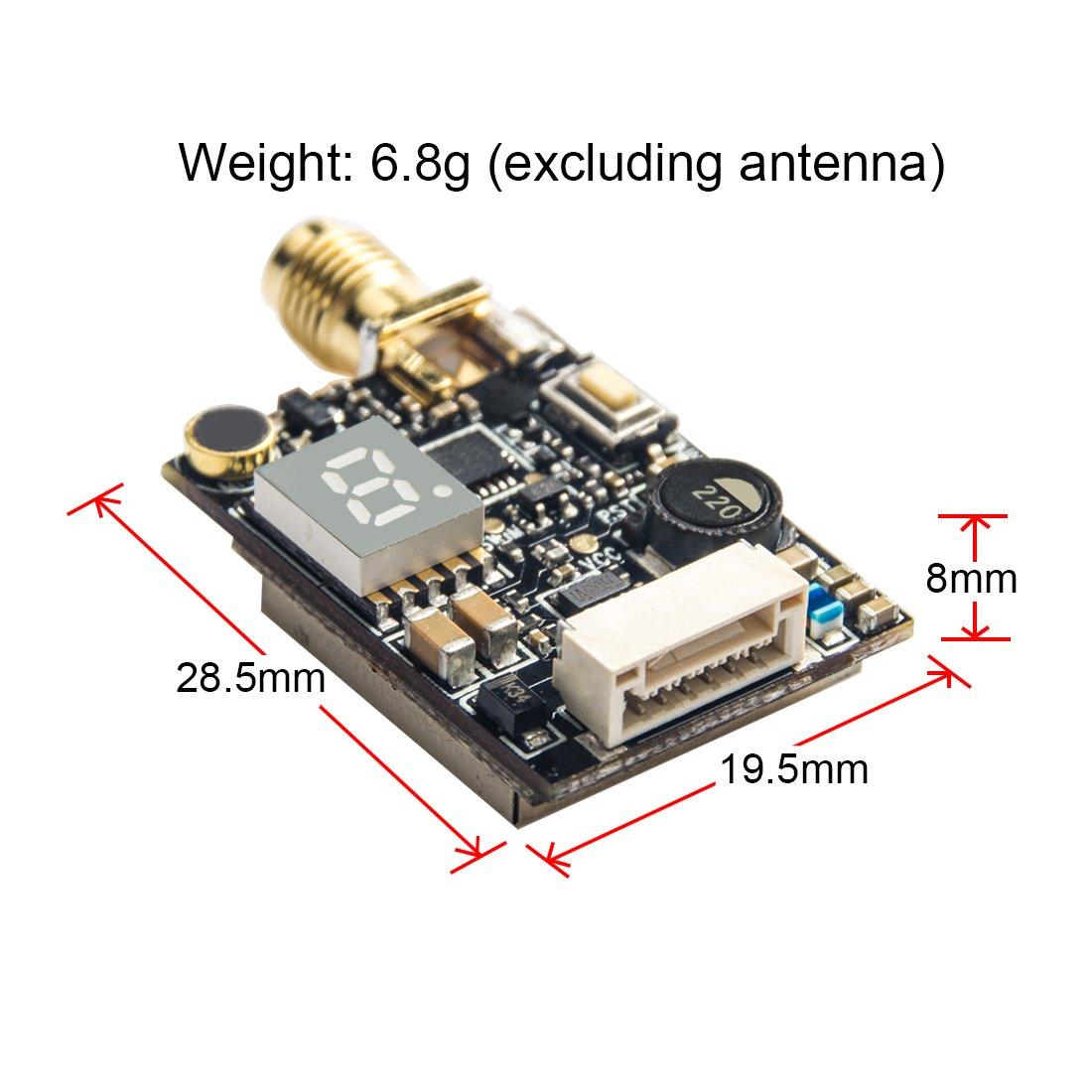 AKK X2 5.8Ghz 0.01mW//25mW//200mW//500mW//800mW Switchable FPV Transmitter Compatible with Betaflight OSD FC