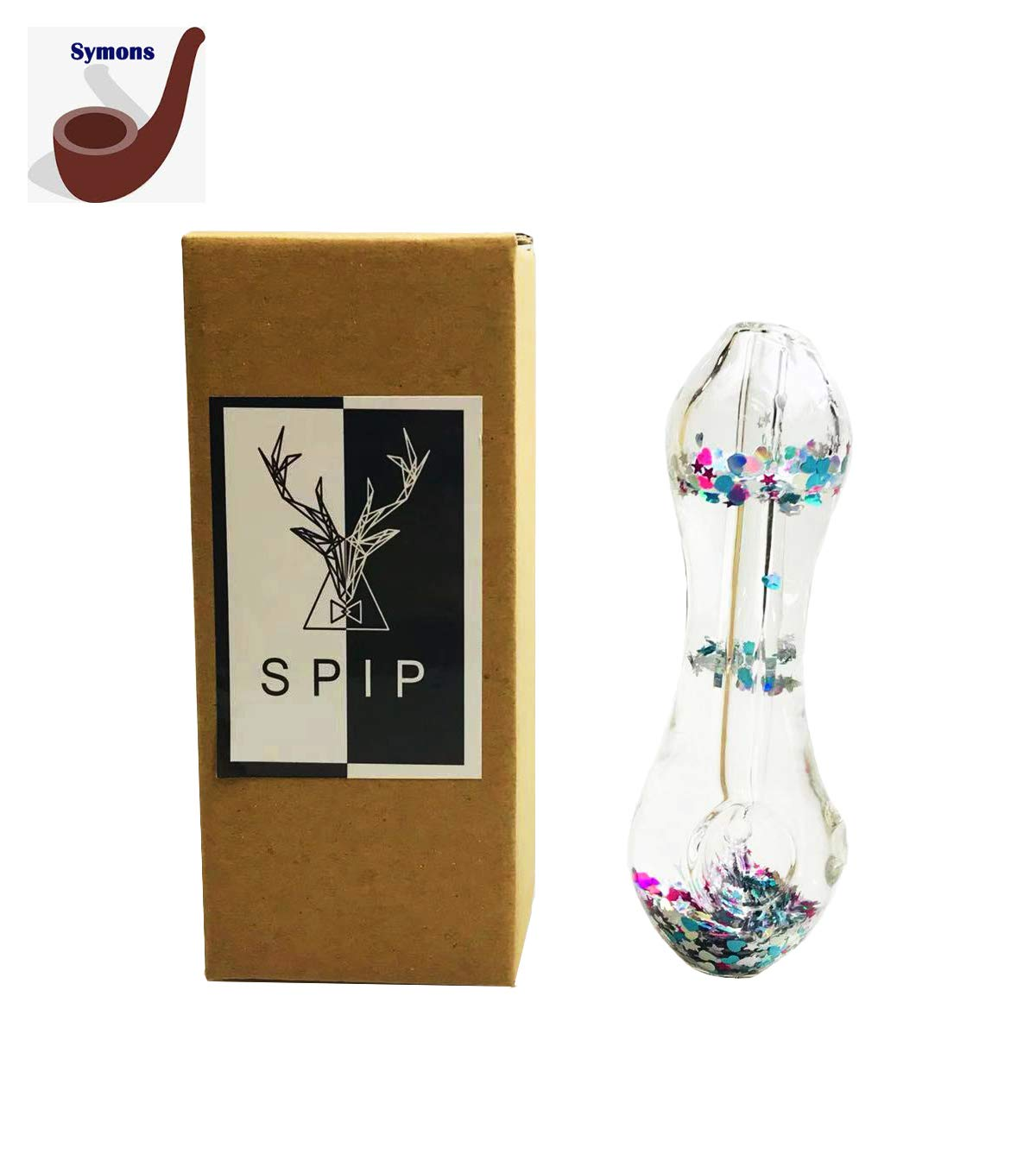 Handmade Glass Newest Water-Pipe Bright with Glint Paillette New Experience Shining Stars